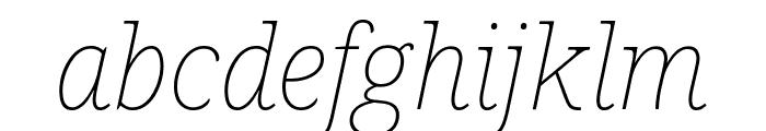 Noto Serif Thin Italic Font LOWERCASE