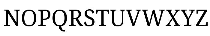 Noto Serif Font UPPERCASE