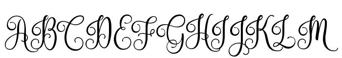 Nouradilla Font UPPERCASE