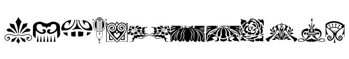 Nouveau Rococo Deco Dings I Font LOWERCASE