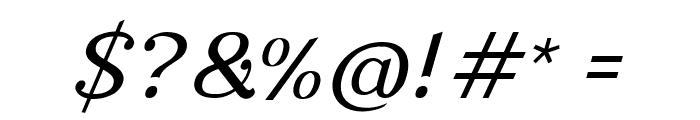 Nova Classic Italic Font OTHER CHARS