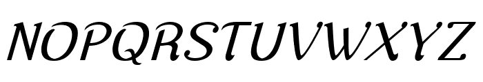 Nova Classic Italic Font UPPERCASE