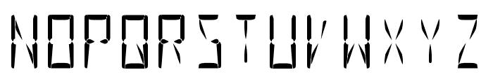 Nova Display Regular Font UPPERCASE