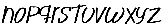 Novedosa Stick Italic Font LOWERCASE