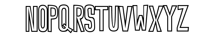 Noveey Outline Font LOWERCASE