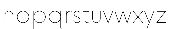 Now-Thin Font LOWERCASE