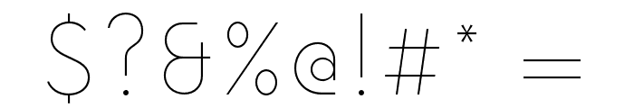 NowAlt-Thin Font OTHER CHARS