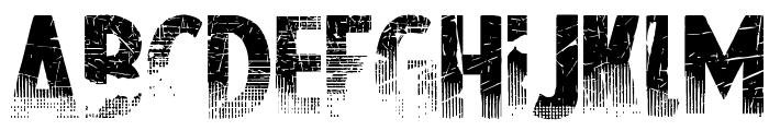 Nowharehouse Font UPPERCASE