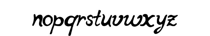 notperfectregular Font LOWERCASE