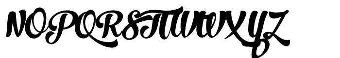 No Seven Bold Font UPPERCASE