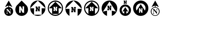 North Arrow Assortment Regular Font OTHER CHARS