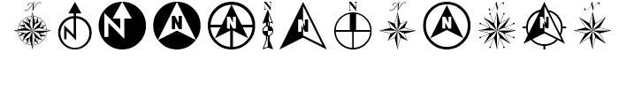 North Arrow Assortment Regular Font LOWERCASE