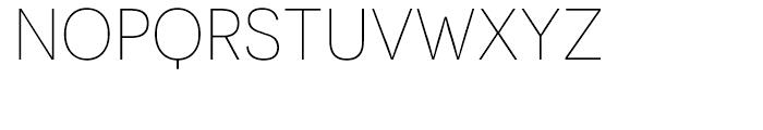 Novecento Sans UltraLight Font UPPERCASE
