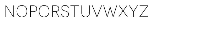 Novecento Sans UltraLight Font LOWERCASE