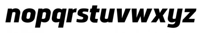 Norpeth Heavy Italic Font LOWERCASE