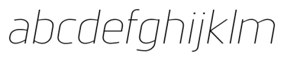 Norpeth Light Italic Font LOWERCASE