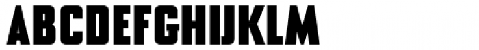 NoExit Black Condensed Font UPPERCASE