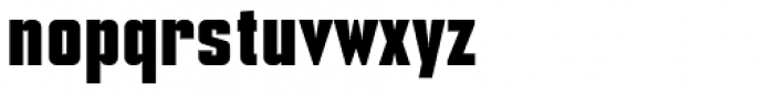 NoExit Bold Condensed Font LOWERCASE