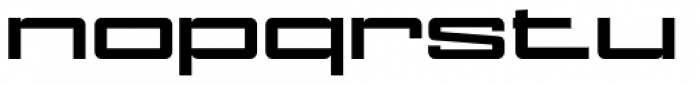 NoExit Bold Ultra Expanded Font LOWERCASE