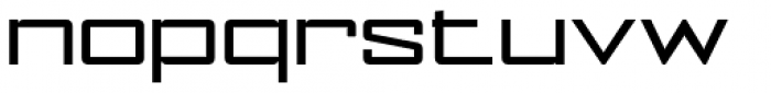 NoExit Regular Extra Expanded Font LOWERCASE