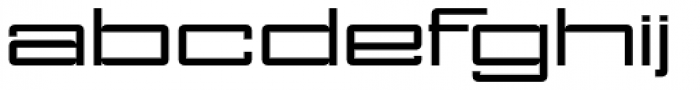 NoExit Regular Ultra Expanded Font LOWERCASE