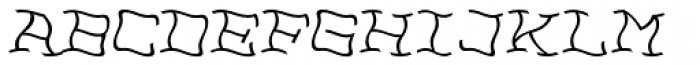 NoPain Right Font UPPERCASE