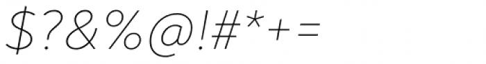 Noah Head Ultra Light Italic Font OTHER CHARS