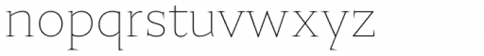 Nocturne Serif Extra Thin Font LOWERCASE