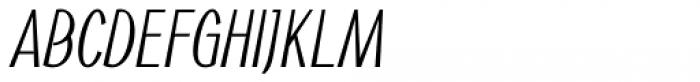Noema Pro Condensed Italic Font UPPERCASE