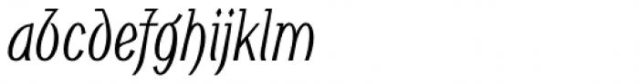 Noema Pro Condensed Italic Font LOWERCASE