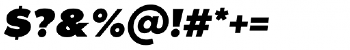 Noir Pro Heavy Italic Font OTHER CHARS