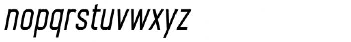 Nok Condensed Bold Italic Font LOWERCASE