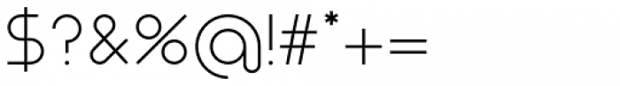 Nokio Sans Alt Light Font OTHER CHARS