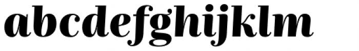 Nomada Didone Black Italic Font LOWERCASE