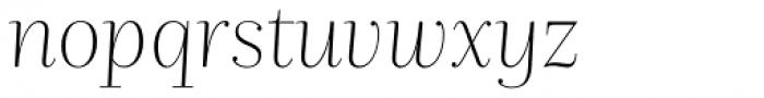 Nomada Didone Extrathin Italic Font LOWERCASE