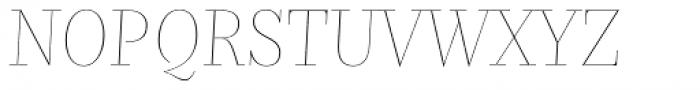 Nomada Didone Hairline Italic Font UPPERCASE
