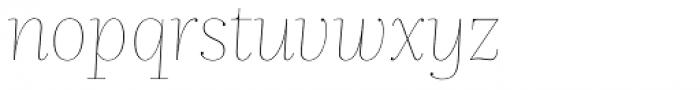 Nomada Didone Hairline Italic Font LOWERCASE