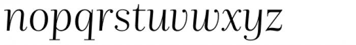 Nomada Didone Thin Italic Font LOWERCASE
