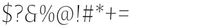 Nomada Incise Extrathin Italic Font OTHER CHARS