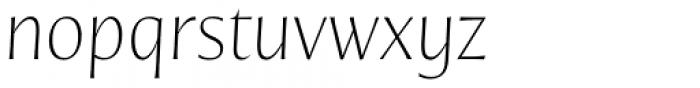 Nomada Incise Extrathin Italic Font LOWERCASE