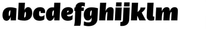 Nomada Sans Extrablack Italic Font LOWERCASE
