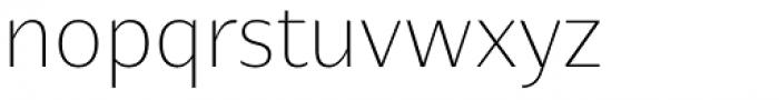Nomada Sans Extrathin Font LOWERCASE