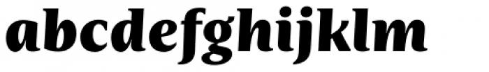 Nomada Serif Black Italic Font LOWERCASE