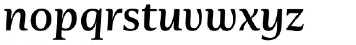 Nomada Serif Medium Italic Font LOWERCASE