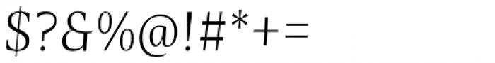 Nomada Serif Thin Italic Font OTHER CHARS