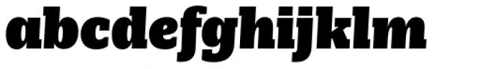 Nomada Slab Extrablack Italic Font LOWERCASE