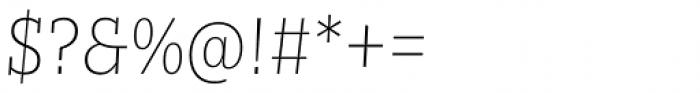 Nomada Slab Extrathin Italic Font OTHER CHARS