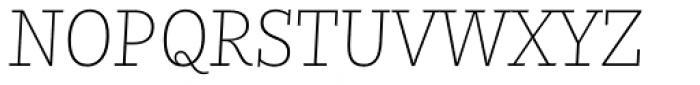 Nomada Slab Extrathin Italic Font UPPERCASE