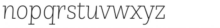 Nomada Slab Extrathin Italic Font LOWERCASE