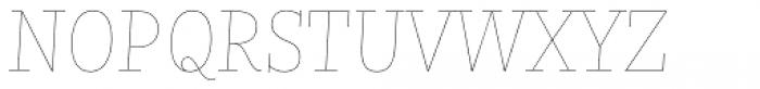 Nomada Slab Hairline Italic Font UPPERCASE